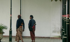 Penchak Silat à Yogyakarta - Gardes du Kraton de Yogyakarta