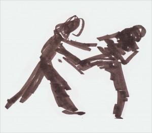 Annick Lavocat - Croquis Pencak Silat Seni Gayung Fatani 16