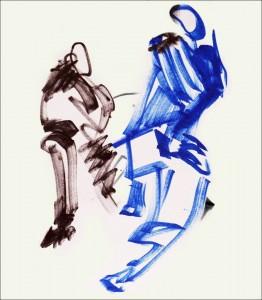 Annick Lavocat - Croquis Pencak Silat Seni Gayung Fatani 27