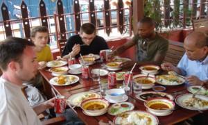 Melaka - Premier repas Malacca - Culture-Silat