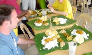 Penang Repas indien feuilles bananier