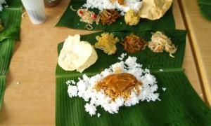 Pulau Penang Repas indien feuilles bananier - Culture-Silat
