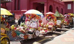 Melaka - Becak décorés - Culture-Silat