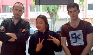 Jérôme, Zua et Matthias Seni Gayung Fatani Malaysia - Culture-SIlat