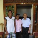 2013 - Tuan Raban, son neveu & sa nièce au Sri Lanka