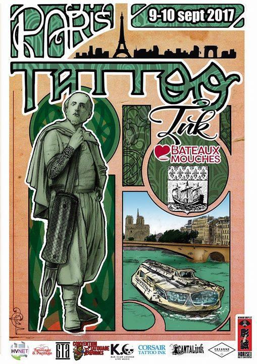 Affiche Paris Tattoo Ink