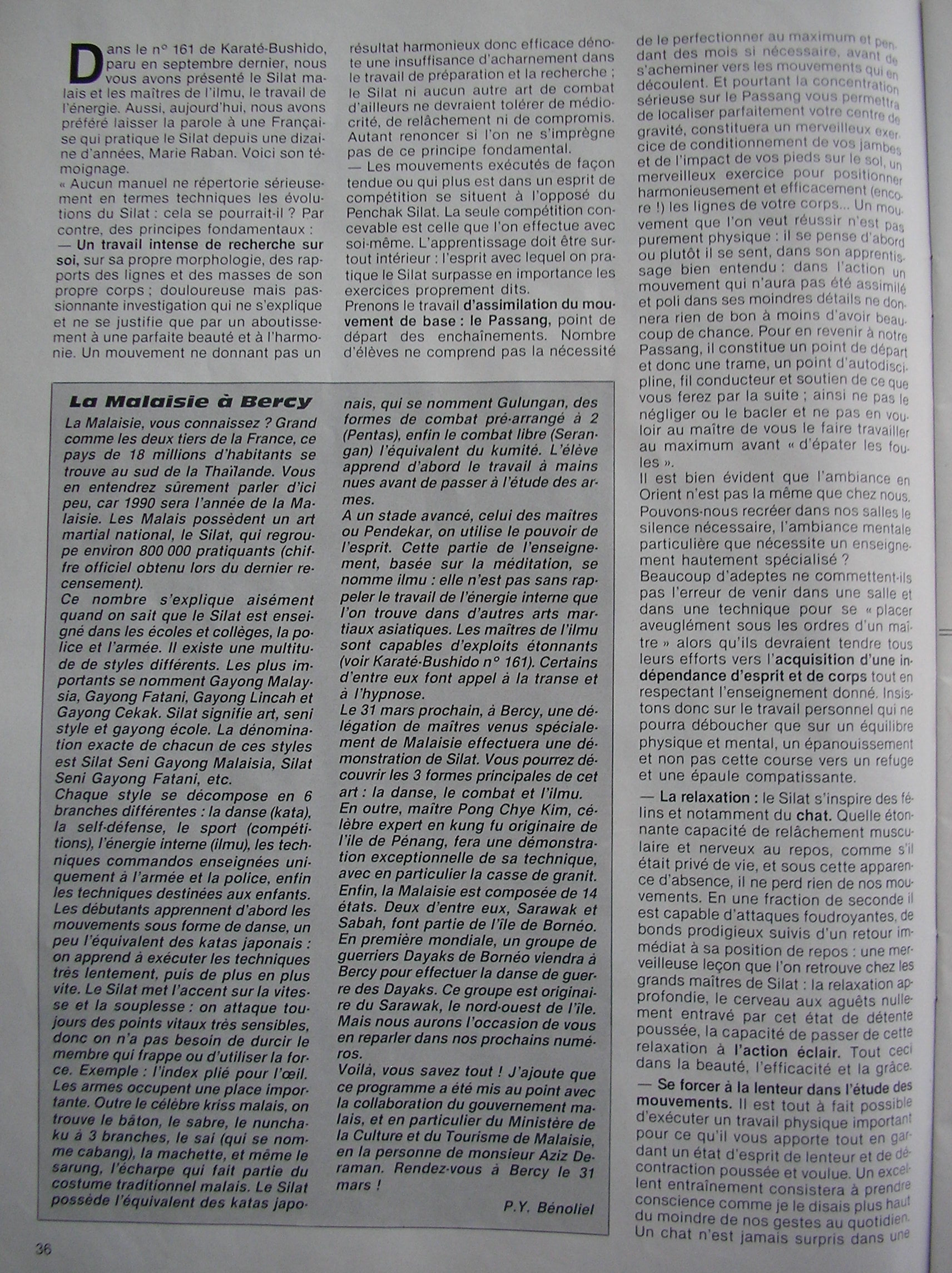 Penchak SiLat - Le Silat dans la Peau (1)