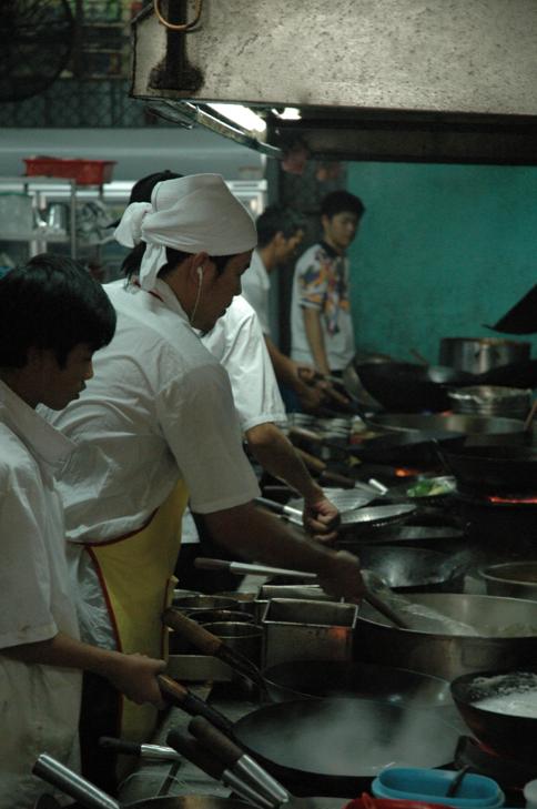 Les cuisines du restaurant de fruits de mer de Kuala Selangor