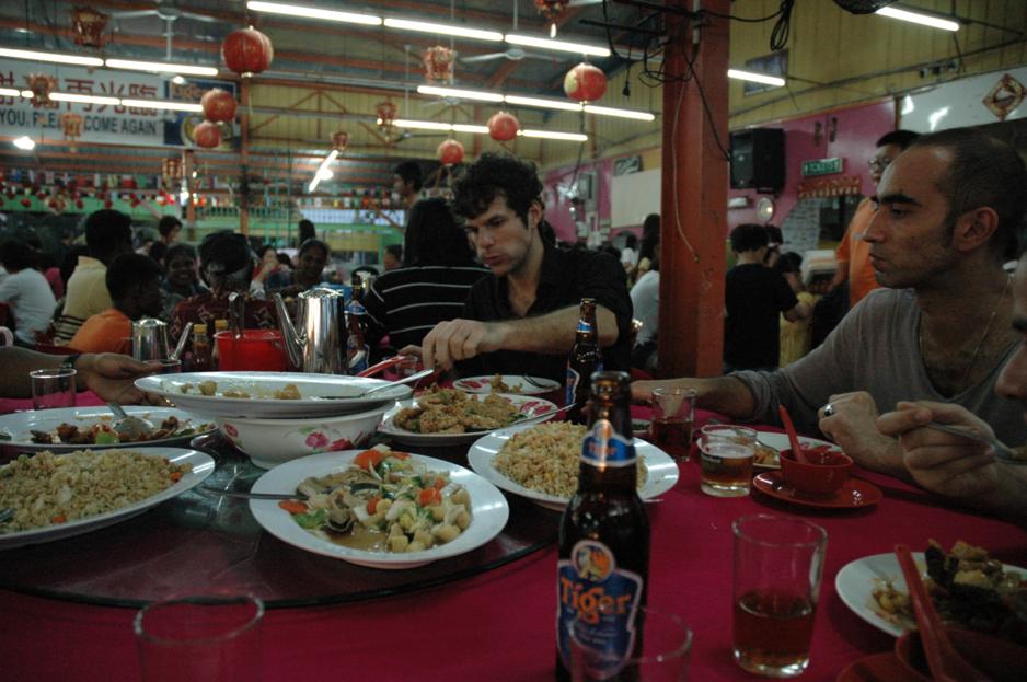 Au restaurant de fruits de mer de Kuala Selangor
