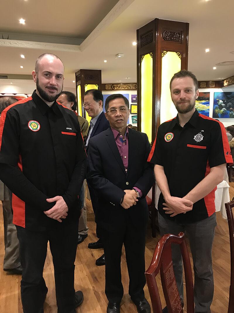 Culture Silat - Cikgu Audy et Cikgu Jérôme avec Datuk Ibrahim Abdullah