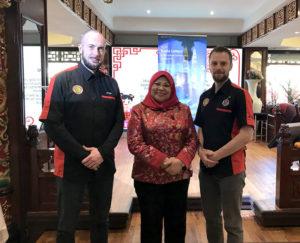 Culture Silat - Cikgu Audy et Cikgu Jérôme avec Dato'Seri Rohani