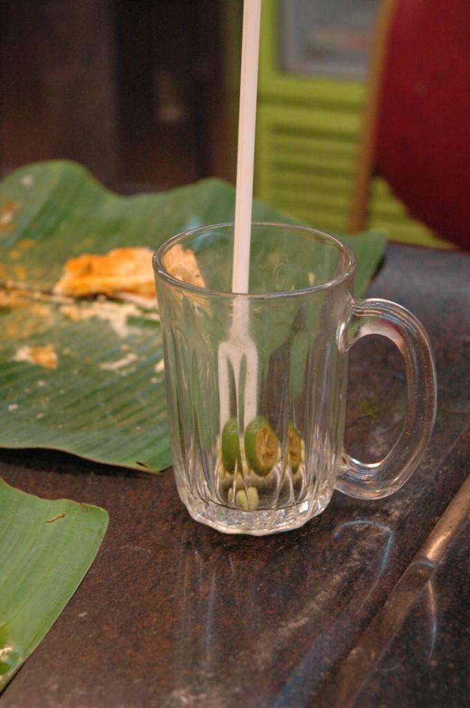 Penchak Silat - Repas terminé après le cours de pencak silat en malaisie