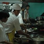 Dans les cuisine d'un restaurant à Kuala Selangor