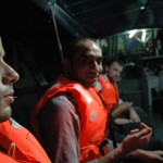 Ferhat et Franck en bateau sur le Selangor