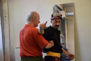 Aranud pendant l'atelier de Découverte du Silat Fatani