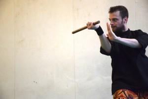 Stage de Pencak Silat traditionnel - Cikgu Audy et son baton court