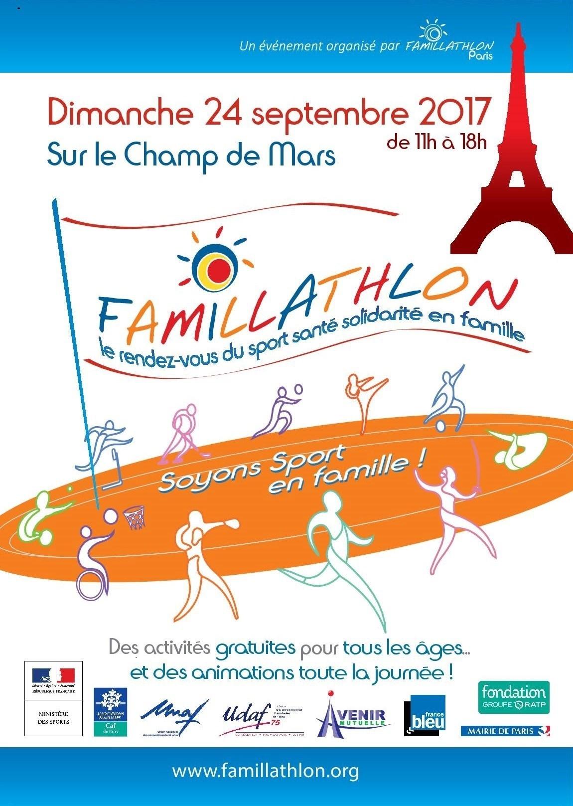 Affiche Famillathlon 2017