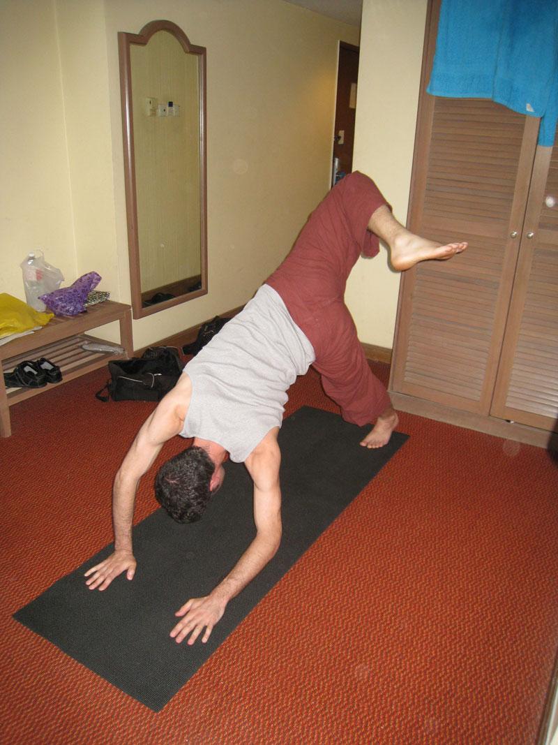 Carnet de Stage Silat Fatani 2013 - Exercice d'assouplissement en Yoga