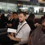 Carnet de Voyage en Malaisie 2014 - Selfie avant d'embarquer