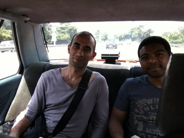 Penchak Silat - En route pour Kuala Lumpur avant le cours de pencak silat en malaisie