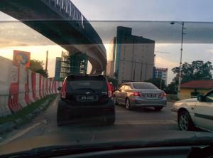 Embouteillage sur le retour