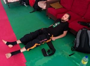 Pas très confort comme position pour la sieste