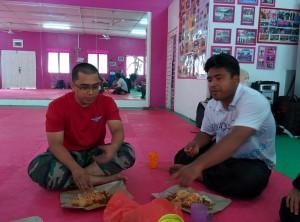 Petit repas entre amis