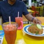 Carnet de Voyage en Malaisie 2014 - Nasih Goreng Thai et Jus de carrotte