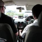 Carnet de Voyage en Malaisie 2014 - Raju et Jérôme dans le taxi