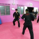 Stage de Pencak Silat en Malaisie 2014 - Mahéry et Matthias en plein entraînement