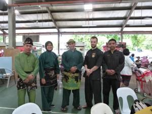 Pencak Silat - Les musiciens et démonstrateurs après la démo
