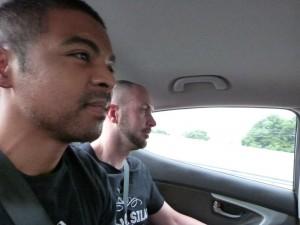 En route pour l'interview