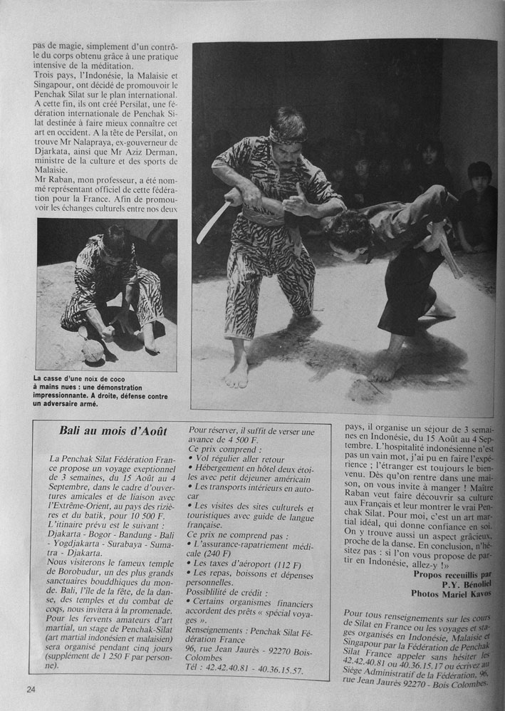 Penchak Silat - L'Art Secret de la Jungle - Immersion