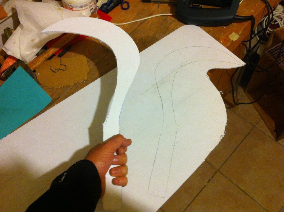 Fabrication d'un Sabit - Dessiner et découper la forme du Sabit