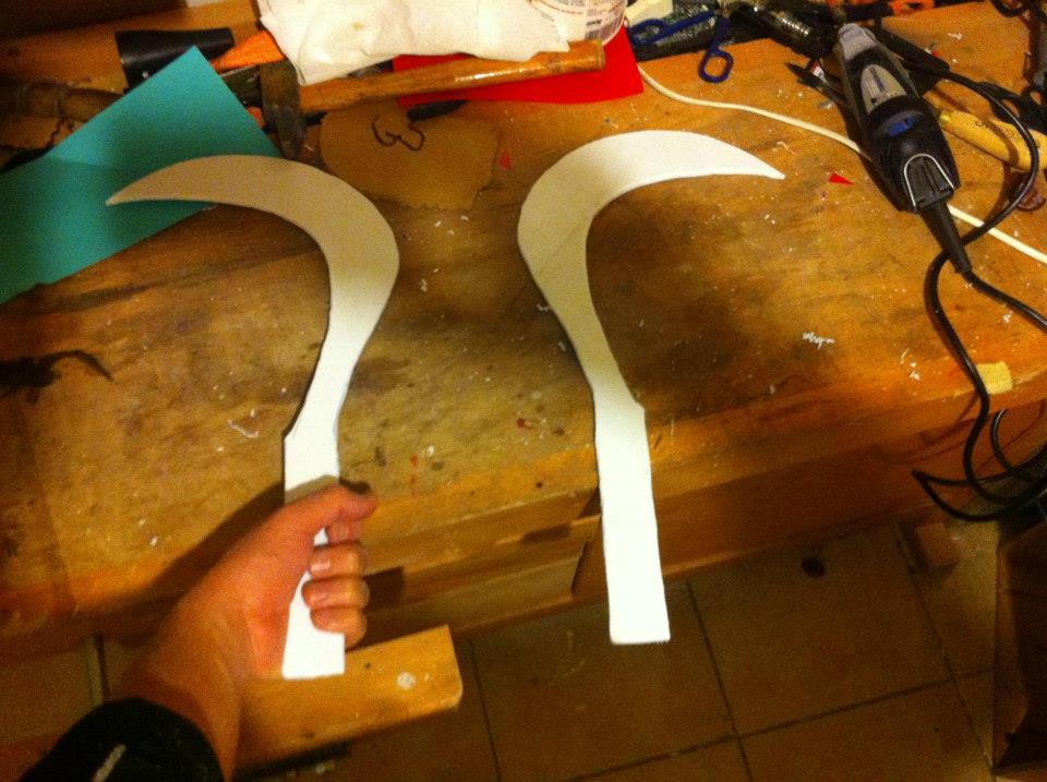 Fabrication d'un Sabit - Renouveler l'opération pour en obtenir deux