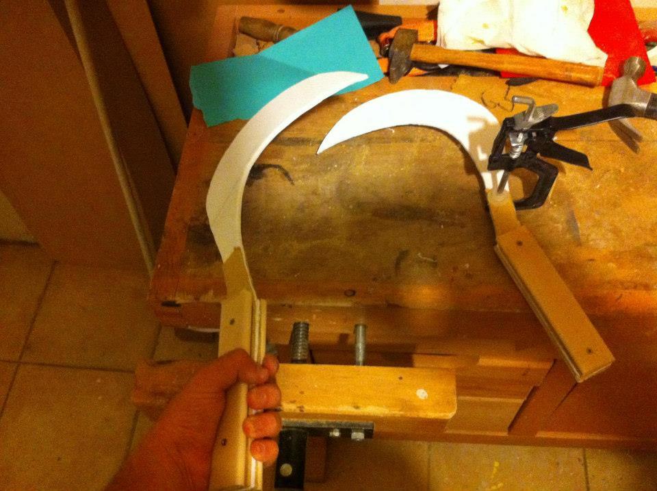 Fabrication d'un Sabit - Renforcer le manche avec du bois