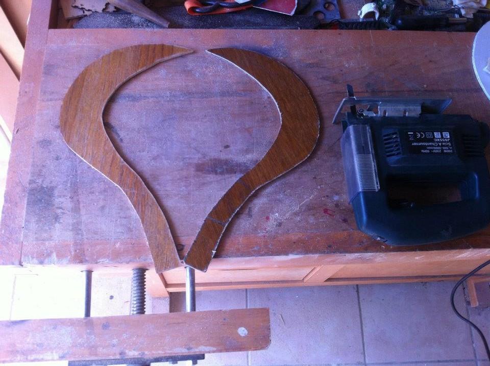 Fabrication d'un Sabit en bois - Dessiner et découper la forme du Sabit