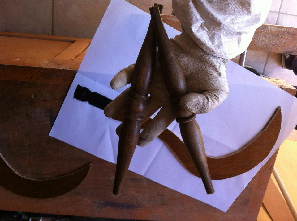Fabrication d'un Sabit en bois - Prendre des barreaux de chaise pour faire les manches