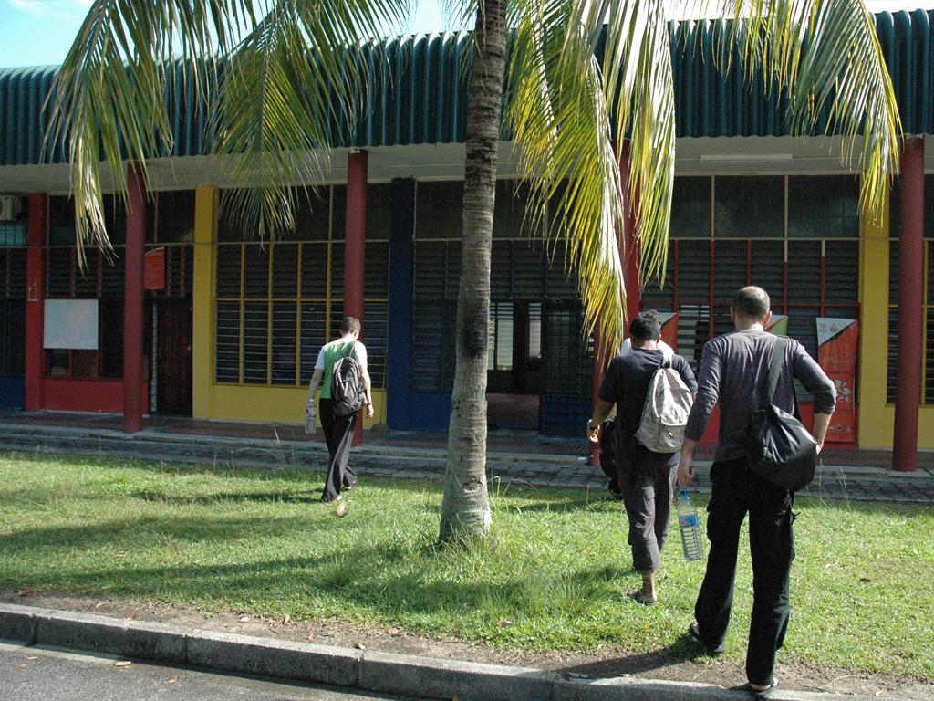 Penchak Silat - Arrivée à la salle d'entraînement Pencak Silat en Malaisie