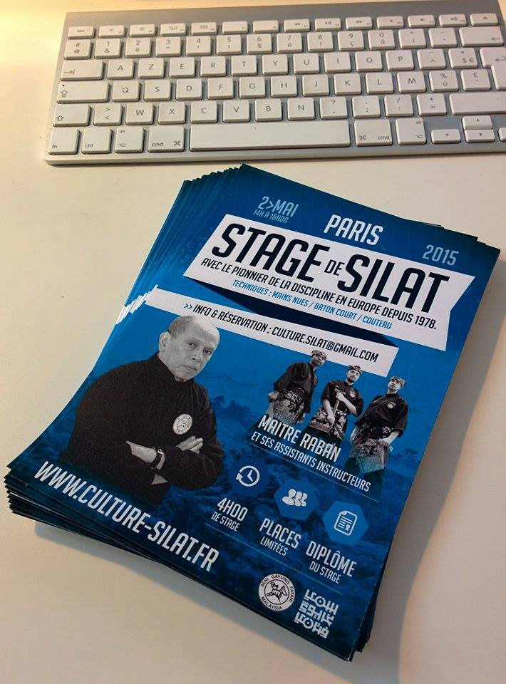 stage de silat traditionnel - flyers